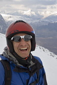 KEITH HILL, A  SKI PATROLLER POSES FOR A PHOTOGRAPH ON THE ETIVE GLADES SKI RUN AT THE GLENCOE MOUNTAIN RESORT, HIGHLAND. PIC: P.TOMKINS/VisitScotland/SCOTTISH VIEWPOINT  Tel: +44 (0) 131 622 7174  Fa... WINTER,SNOW,SKIING