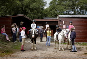 BAREND RIDING CENTRE AT SANDYHILLS ON THE COLVEND COAST, NEAR DALBEATTIE, DUMFRIES AND GALLOWAY.  PIC: PAUL TOMKINS/VisitScotland/SCOTTISH VIEWPOINT Tel: +44 (0) 131 622 7174   Fax: +44 (0) 131 622 71... SUNNY,SUMMER,ACTIVITY,JULY 2006,HORSE,EQUINE,PONY,KID,YOUNGSTER,CHILD,TREK,TREKKING,CHILDREN,KIDS,STABLES,HORSES,PONIES