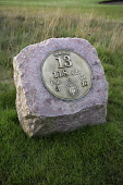 CARNOUSTIE GOLF LINKS (CHAMPIONSHIP COURSE) - CARNOUSTIE, ANGUS. TEE MARKER - 13th HOLE.