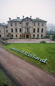 LOGO FOR LIVE IT. VISIT SCOTLAND, CREATED FROM SNOWDROPS (GALANTHUS) ON GRASS IN FRONT OF CAMBO HOUSE DURING THE SCOTTISH SNOWDROP FESTIVAL (2007).  CAMBO HOUSE AND GARDENS, KINGSBARNS, NR ST ANDREWS,...