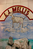 THE TILED SIGN FOR I.J. MELLIS CHEESEMONGER, STOCKBRIDGE, EDINBURGH.  PIC : NEIL SINCLAIR/SCOTTISH VIEWPOINT  Tel: +44 (0) 131 622 7174  Fax: +44 (0) 131 622 7175  E-Mail: info@scottishviewpoint.com... NEIL SINCLAIR/SCOTTISH VIEWPOINT 2008,SPECIALITY,SPECIALISED,SHOPPING,SHOP,RETAIL,FOOD,EATING,CHEESES,CHEESE