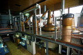 THE STILL ROOM, THE MACALLAN DISTILLERY, EASTER ELCHIES, CRAIGELLACHIE, MORAY. PIC: GLYN SATTERLEY/SCOTTISH VIEWPOINT Tel: +44 (0) 131 622 7174   Fax: +44 (0) 131 622 7175 E-Mail : info@scottishviewpo... INDUSTRY,WHISKY,STILLS,SPEYSIDE,SCOTLAND,MANUFACTURE,INTERIOR