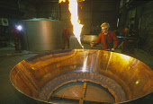 THE MANUFACTURE OF COPPER STILLS AT FORSYTHS THE COPPERSMITHS AND FABRICATORS AT ROTHES, MORAY. PIC: GLYN SATTERLEY/SCOTTISH VIEWPOINT Tel: +44 (0) 131 622 7174   Fax: +44 (0) 131 622 7175 E-Mail : in... CONSTRUCTION,WORKER,WHISKY,SCOTLAND,PEOPLE,INTERIOR,INDUSTRY,FLAME,EMPLOYEE