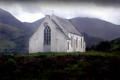 """LOOKING ACROSS TO THE CHURCH OF """"OUR LADY OF THE BRAES"""" NEAR POLNISH FROM THE JACOBITE STEAM TRAIN, HIGHLAND. PIC: S. GROSSET/SCOTTISH VIEWPOINT Tel: +44 (0) 131 622 7174   Fax: +44 (0) 131 622 7175 E... BUILDING,TRANSPORT,SUMMER,RELIGION,LOCAL HERO"""