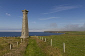 The 1888 memorial to commemorate the drowning of more than two hundred Covenanters in a shipwreck in 1679, Mull Head, Mainland, Orkney. 2013,summer,sunny,history,heritage,nature,reserve,coast,coastal,coastline,water,sea,attraction,visitor,tourist