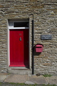 A detail of Portsmouth Point - a self catering cottage on Victoria Street, Stromness, Mainland, Orkney. Scott Whitelaw / Scottish Viewpo 2013,summer,sunny,housing,house,accommodation,door,front,entrance,window,letter,box,island,islands,isle,isles