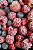 FROZEN BERRIES. Paul Dodds / Scottish Viewpoint BERRIES,FOOD,PROVENANCE,INGREDIENT,INGREDIENTS,RASPBERRIES,STRAWBERRIES,FRUIT,FRUITS,BERRY,EAT,RED,NO PEOPLE,STRAWBERRY,RASPBERRY