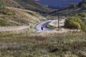 A CYCLIST ON THE SOUTHERN BORDERS CYCLE ROUTE NEAR NEWCASTLETON, SCOTTISH BORDERS. Paul Dodds / Scottish Viewpoint activity,activities,cycling,cyclist,cyclists,bike,bikes,biking,biker,bikers,bicycle,bicycles,people,person,man