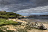 A disused  boat at Talmine, Sutherland, Highlands of Scotland Bill McKenzie / Scottish Viewpoi atmosphere,atmospheric,beach,beaches,coast,coastal,coastline,no people,sand,sandy,sea,water,boats,boat,yacht,yachts,tongue,bay,highland,dramatic,hamlet,remote