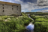 A disused mill and mill stream at Ham in Caithness, Highlands of Scotland Bill McKenzie / Scottish Viewpoi no people,atmospheric,atmosphere,dramatic,empty,remote,green,summer,sunny,water,streams,burn,burns
