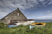 Disused boats at Castletown, Caithness, Highlands of Scotland. Bill McKenzie / Scottish Viewpoi 2013,summer,atmospheric,HDR,coast,coastal,coastline,water,sea,clouds,boat,upturned,abandoned