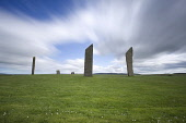 The Stones of Stenness Neolithic stone circle, Mainland, Orkney. Andy Bennetts / Scottish Viewpoi 2011,summer,atmospheric,attraction,visitor,visitors,tourist,tourists,tourism,history,heritage,historic,scotland,hs,island,islands,isle,isles,clouds