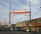 The entrance to the Barras Market - a major street and indoor weekend market venue, east of the city centre of Glasgow. Allan Wright / Scottish Viewpoin 2007,spring,sunny,barrowland,markets,retail,shop,shopping,shops,shopper,shoppers,specialised,galowgate