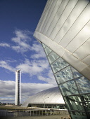 The Glasgow Tower and the Glasgow Science Centre, the IMAX cinema west of the city centre of Glasgow Allan Wright / Scottish Viewpoin architecture,architectural,building,buildings,attraction,attractions,summer,sunny,no people,education