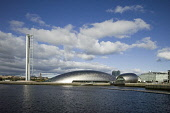 The Glasgow Tower and the Glasgow Science Centre, the IMAX cinema west of the city centre of Glasgow Allan Wright / Scottish Viewpoin architecture,architectural,building,buildings,attraction,attractions,summer,sunny,no people,education,river,clyde