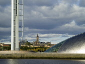 The Glasgow Tower at the Glasgow Science Centre,  west of the city centre of Glasgow Allan Wright / Scottish Viewpoin architecture,architectural,building,buildings,attraction,attractions,summer,sunny,no people,education,university,river,clyde