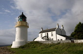 Corran lighthouse and lodge - now luxury self catering accommodation on the shore of Loch Linnhe, Highlands of Scotland. Mark Hicken / Scottish Viewpoint summer,sunny,sunshine,structure,engineering,building,architecture,light,house,morvern,northern,board