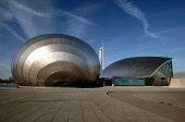 The Imax Cinema, Glasgow Tower and the Science Centre, west of the city centre of Glasgow. Ross Graham / Scottish Viewpoint winter,sunny,sunshine,architecture,architectural,building,buildings,attraction,visitor,tourist,education