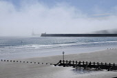 The beach at Aberdeen, with a view beyond to the harbour wall. Allan Wright / Scottish Viewpoin summer,sunny,sunshine,water,beach,beaches,sand,sandy,coast,coastal,coastline,sea,haar,fret,weather