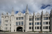 The impressive granite facade of Marischal College in the city centre of Aberdeen. Allan Wright / Scottish Viewpoin summer,sunny,sunshine,office,offices,architecture,architectural,building,buildings,council,spire,spires