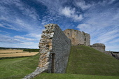 The ruined remains of Duffus Castle - one of the finest examples of a motte and bailey castles in Scotland, near Elgin, Moray. Allan Wright / Scottish Viewpoin summer,sunny,sunshine,attraction,visitor,visitors,tourist,tourists,tourism,building,buildings,history,heritage,historic,scotland,hs,ruin,ruins