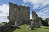 The ruined remains of Spynie Palace - the former residence of the bishops of Moray, near Elgin, Moray. Allan Wright / Scottish Viewpoin summer,sunny,sunshine,attraction,visitor,visitors,tourist,tourists,tourism,building,buildings,history,heritage,historic,scotland,hs,ruin,ruins