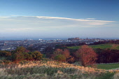 The view north from Wester Craiglockhart Hill, towards the city centre of Edinburgh. Keith Fergus / Scottish Viewpoin 2013,winter,atmospheric,atmosphere,firth,forth,castle,cityscape,activity,activities,golf,golfing,sport,sports,braid,hills
