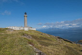 The Ardnamurchan lighthouse -  most westerly point on British mainland, Highlands of Scotland. D.G.Farquhar/ Scottish Viewpoint summer,sunny,sunshine,light,house,northern,board,safety,Stevenson,UK,most westerly point,coast,coastal,coastline,water,sea