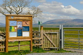 The information board at RSPB Crook of Baldoon Nature Reserve, Dumfries and Galloway. Keith Kirk / Scottish Viewpoint summer,sunny,fauna,wildlife,wild,bird,birds,activity,activities,birdwatching,birdwatcher,birdwatchers,twitching,twitcher,twitchers,attraction,attractions,visitor,tourist