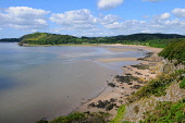 The beach at Sandyhills on the Solway coastline, Dumfries and Galloway. Keith Kirk / Scottish Viewpoint summer,sunny,beach,beaches,sand,sandy,coast,coastal,coastline,water,sea,hill,hills,countryside