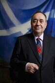 First Minister, Alex Salmond in his office at the Scottish Parliament, Edinburgh. Gary Doak / Scottish Viewpoint MSP,Independence,politician,politicians,politics,SNP,Saltire,flag,Scotland,government,yes,vote,campaign,debate,question,political,National,Party,leader,Holyrood,portrait,tartan,tie,UK,2014,city,interi