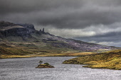 Overlooking Loch Fada towards the Old Man of Storr, on the Isle of Skye, Inner Hebrides. Bill McKenzie / Scottish Viewpoi autumn,overcast,clouds,cloud,cloudy,storm,stormy,atmospheric,atmosphere,water,HDR,scotland,highland,island,islands,isle,isles,skye,loch,fada,old,man,storr,trotternsih,geological,feature