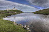 The view over Lochan nam Faoileag to Strathy Point Lighthouse, Highlands of Scotland. Bill McKenzie / Scottish Viewpoi summer,clouds,cloud,cloudy,atmospheric,atmosphere,water,HDR,highlands,scotland,highland,light,house,lighthouse,strathy,point
