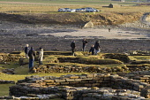 Visitors explore the Pictish and Norse remains on the tidal island of Brough of Birsay, off the coast of West Mainland, Orkney. Mark Ferguson / Scottish Viewpoi winter,sunny,sunshine,Brough,Birsay,west,mainland,Orkney,people,pictish,picts,pict,norse,viking,coast,coastal,attraction,attractions,visitor,tourist,visitors,tourists,history,heritage,historic,scotlan