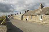A row of cottages at Balfour, Shapinsay, Orkney. Picture Credit : Iain Sarjeant / Scottish Viewpoint  Tel: +44 (0) 131 622 7174  E-Mail : info@scottishviewpoint.com  Web: www.scottishviewpoint.com Thi... 2012,summer,sunny,island,islands,isle,isles,cottage,cottages,housing,house,houses,terrace,street,road,village