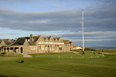 Royal Troon Golf Club, Troon, South Ayrshire. Chris Robson / Scottish Viewpoin 2010,summer,sunny,clubhouse,club,house,links,activity,activities,golf,golfer,golfers,golfing,sport,sports