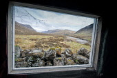The view from the window of the Creagh Dhu mountaineering club bothy in Glen Coe, Highlands of Scotland. Allan Wright / Scottish Viewpoin horizontal,day,summer,overcast,cloud,clouds,Highland,Highlands,no people,nobody,Scottish,UK,U.K,Great,Britain,mountain,mountains,Glen,Coe,Glencoe,scenery,activity,activities,walk,walking,hill,hills,hi