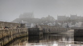 Fog over the harbour at the small village of  Findochty, Moray, Scotland Bill McKenzie/ Scottish Viewpoin fog,foggy,mist,misty,atmospheric,nobody,sea,haar,water,harbour,summer,outdoors,Scotland,Scottish,UK,U.K,Great Britain