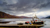Cars disembarking from the ferry at Corran, Highlands of Scotland Andrew Wilson/ Scottish Viewpoin Ardgour,Corran,ferry,highlands,sea,ship,vessel,coast,coastal,coastline,water,autumn,ferries,transport,atmospheric,group,outdoors,boat,boats,uk,u.k,Great Britain,GB,G.B,cars,car