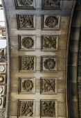 Archway detail of the buildings of the University of Edinburgh, Teviot Place, Edinburgh, Scotland Paul Dodds/ Scottish Viewpoint nobody,outdoors,day,uk,u.k,Great Britain,GB,G.B,Scotland,old medical school,buildings,Edinburgh,University of Edinburgh,architectural,detail,summer,archway