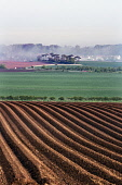 A newly ploughed field in East Lothian countryside, East Lothian, Scotland. Paul Dodds/ Scottish Viewpoint uk,u.k,Great Britain,GB,G.B,Scotland,United Kingdom,ploughed field,fields,agriculture,arable,field,crop,crops,farm,farms,farming,countryside,outdoors,day,nobody