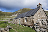 A restored house in the village, Hirta,  St Kilda archipelago, Outer Hebrides, Scotland Richard Burdon / Scottish Viewpo history,heritage,historic,Scotland,Scottish,UK,U.K,Great Britain,nobody,outdoors,daytime,summer,sunny,world heritage site,island,islands,isle,isles,hirta,St Kilda,restored,house,village,main street,na
