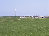 A community wind turbine of the Shapinsay Development, Shapinsay, Orkney, Scotland. Doug Houghton / Scottish Viewpoi horizontal,outdoors,outside,day,sprng,sunny,wind turbine,community,Shapinsay,Development Trust,power,energy,domestic,renewables,green,cottages,Orkney,windturbine,islands,isles,island,isle,windpower,al