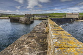 The harbour wall at Sandside, Caithness, Highlands of Scotland Bill McKenzie / Scottish Viewpoi horizontal,outside,outdoors,day,summer,sunny,harbour,Sandside,bay,Caithness,Highland,Scotland,Scottish,UK,U.K,Great Britain,nobody,building,HDR,coast,coastal,coastline,water,sea,wall,atmospheric
