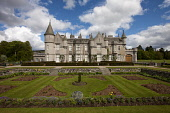 Balmoral Castle, Royal Deeside, Aberdeenshire. John Paul / Scottish Viewpoint horizontal,outdoors,outside,day,spring,sunny,Balmoral Castle,Royal Deeside,Aberdeenshire,Scotland,Scottish,UK,U.K,Great Britain,nobody,attraction,royal family,residence,building,architecture,stately h