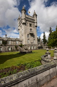 Balmoral Castle, Royal Deeside, Aberdeenshire. John Paul / Scottish Viewpoint vertical,outdoors,outside,day,spring,sunny,Balmoral Castle,Royal Deeside,Aberdeenshire,Scotland,Scottish,UK,U.K,Great Britain,nobody,attraction,royal family,residence,building,architecture,stately hom