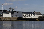The Ardbeg Distillery on the Isle of Islay, Inner Hebrides, Scotland. John Paul / Scottish Viewpoint horizontal,outside,outdoors,exterior,summer,day,Ardbeg Distillery,Islay,Inner Hebrides,Argyll,Scotland,Scottish,UK,U.K,Great Britain,nobody,attraction,building,single malt,whisky,production,coast,coas