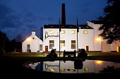 The Benromach distillery - a Speyside single malt Scotch whisky distillery in Forres, photographed at duskMoray, Scotland. John Paul / Scottish Viewpoint horizontal,outside,outdoors,exterior,winter,dusk,evening,night,Benromach Distillery,Forres,Moray,Scotland,Scottish,UK,U.K,Great Britain,nobody,attraction,building,single malt,whisky,production,Speysid