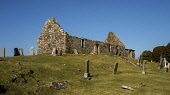 The ruins of Cill Chriosd (Christ's Church or Kilchrist) - the former parish church of Strathaird, near Broadford on the Isle of Skye, Inner Hebrides, Scotland. Andrew Wilson / Scottish Viewpoi horizontal,outdoors,outside,day,winter,sunny,sunshine,Cill Chriosd,Christs Church,Kilchrist,Strathaird,Skye,island,isle,Inner Hebrides,Highland,Scotland,Scottish,UK,U.K,Great Britain,nobody,building,r