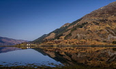 Mirror calm reflections in Loch Duich at Ault a' Chruinn, Highlands of Scotland. Andrew Wilson / Scottish Viewpoi horizontal,outdoors,outside,day,winter,sunny,sunshine,blue sky,Loch Duich,Ault a Chruinn,Highland,Scotland,Scottish,UK,U.K,Great Britain,nobody,water,calm,mirror,reflection